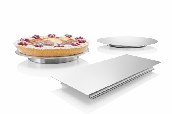 Cake plates, stainless steel
