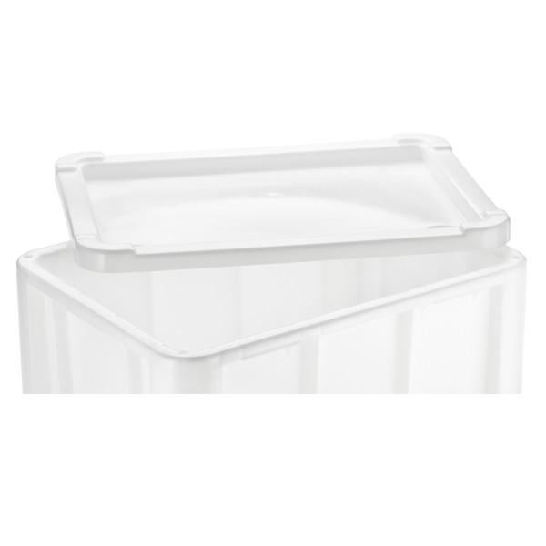 Deckel für Stapelbehälter weiß, extra schwere Qualität