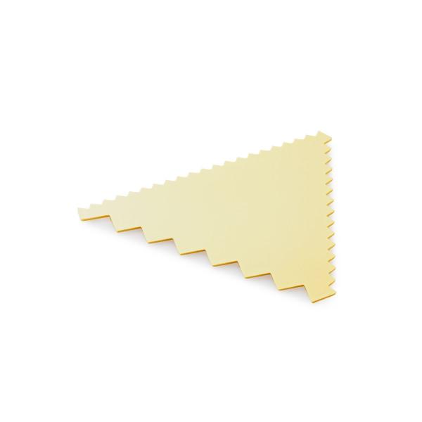 Teigschaber / Kammschaber, ELFENBEIN, Kunststoff