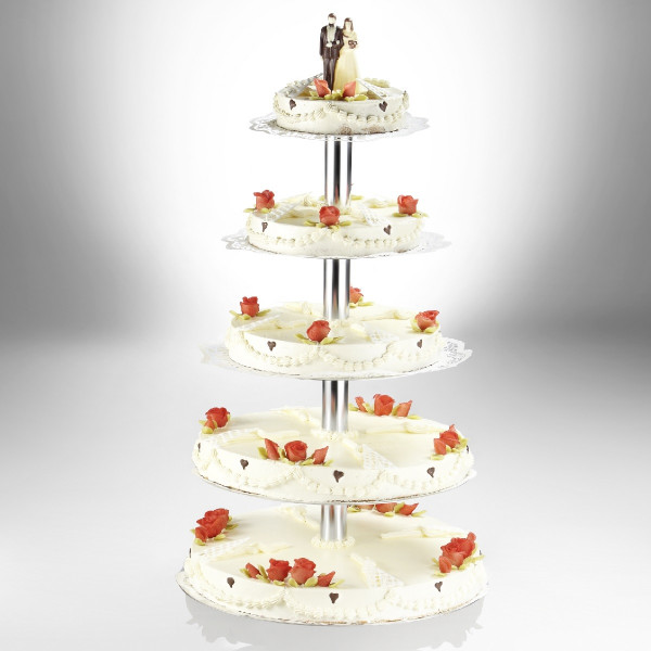 Tiered cake stand / wedding cake stand, round