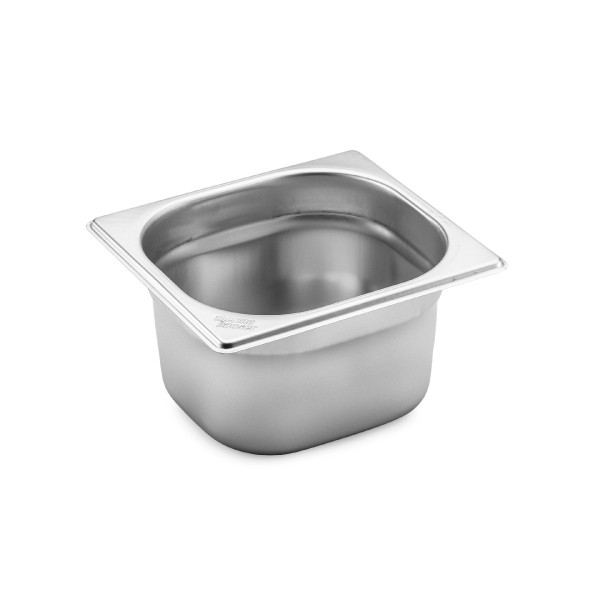 GN 1/6 container without handles, stainless steel
