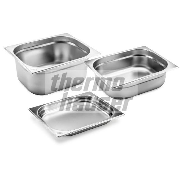 GN 1/2 container without handles, stainless steel
